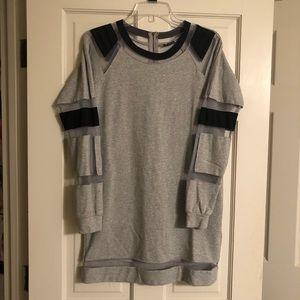 Mesh Sweatshirt Dress